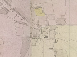Map of Stepney, detail from Horwood's 'Map of London'